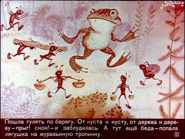 картинки к сказке лягушка и муравей есть