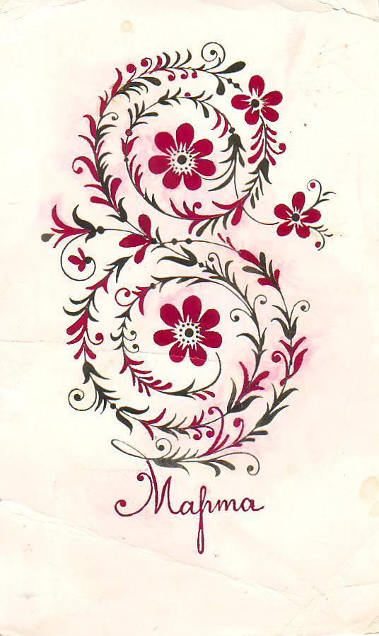 Графическая открытка к 8 марта
