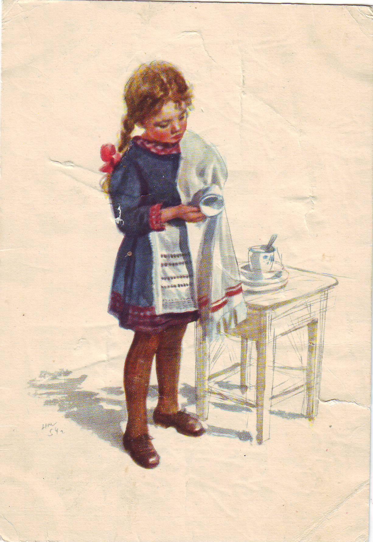 Дети на открытках 50 годов, старых открыток поздравительные