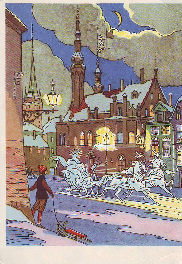 Автомобильные, старые открытки сказки