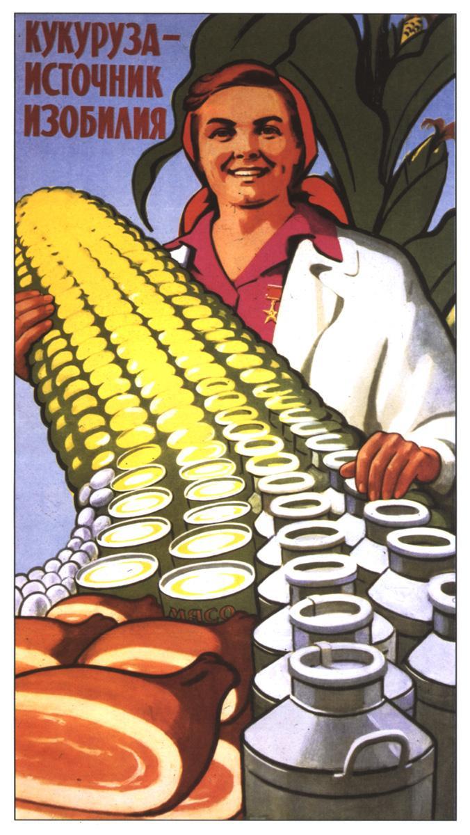 Плакат кукуруза источник изобилия